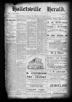 Halletsville Herald. (Hallettsville, Tex.), Vol. 22, No. 42, Ed. 1 Thursday, September 14, 1893