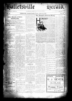 Halletsville Herald. (Hallettsville, Tex.), Vol. 27, No. 22, Ed. 1 Thursday, June 23, 1898