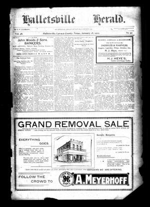 Halletsville Herald. (Hallettsville, Tex.), Vol. 28, No. 50, Ed. 1 Thursday, January 18, 1900