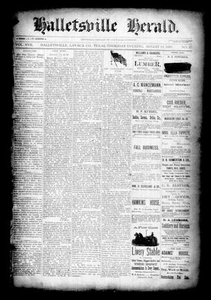 Halletsville Herald. (Hallettsville, Tex.), Vol. 17, No. 47, Ed. 1 Thursday, August 16, 1888
