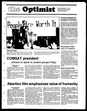 The Optimist (Abilene, Tex.), Vol. 69, No. 3, Ed. 1, Friday, September 11, 1981