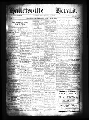 Primary view of object titled 'Halletsville Herald. (Hallettsville, Tex.), Vol. 27, No. 16, Ed. 1 Thursday, May 12, 1898'.