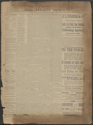 Primary view of object titled 'The Albany News. (Albany, Tex.), Vol. 6, No. 30, Ed. 1 Thursday, October 24, 1889'.