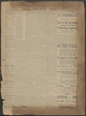 The Albany News. (Albany, Tex.), Vol. 6, No. 30, Ed. 1 Thursday, October 24, 1889