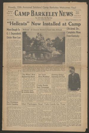 Camp Barkeley News (Camp Barkeley, Tex.), Vol. 2, No. 41, Ed. 1 Friday, November 26, 1943