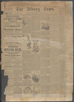 The Albany News. (Albany, Tex.), Vol. 5, No. 52, Ed. 1 Thursday, March 28, 1889