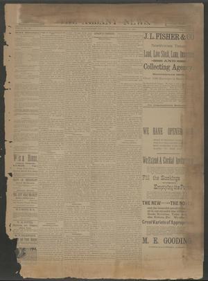 The Albany News. (Albany, Tex.), Vol. 6, No. 37, Ed. 1 Thursday, December 12, 1889