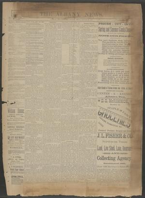 The Albany News. (Albany, Tex.), Vol. 6, No. 21, Ed. 1 Thursday, August 22, 1889