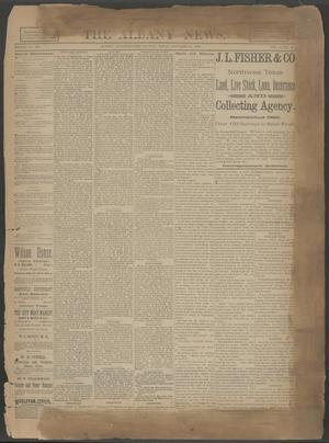 The Albany News. (Albany, Tex.), Vol. 6, No. 28, Ed. 1 Thursday, October 10, 1889