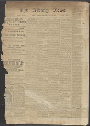 The Albany News. (Albany, Tex.), Vol. 5, No. 44, Ed. 1 Thursday, January 31, 1889