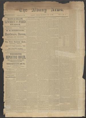 The Albany News. (Albany, Tex.), Vol. 5, No. 41, Ed. 1 Thursday, January 10, 1889