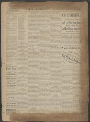 The Albany News. (Albany, Tex.), Vol. 6, No. 25, Ed. 1 Thursday, September 19, 1889