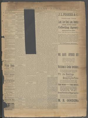The Albany News. (Albany, Tex.), Vol. 6, No. 38, Ed. 1 Thursday, December 19, 1889