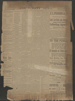 Primary view of object titled 'The Albany News. (Albany, Tex.), Vol. 6, No. 31, Ed. 1 Thursday, October 31, 1889'.