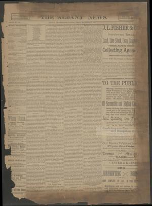 The Albany News. (Albany, Tex.), Vol. 6, No. 32, Ed. 1 Thursday, November 7, 1889