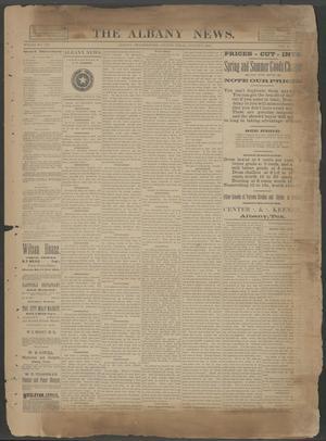 The Albany News. (Albany, Tex.), Vol. 6, No. 19, Ed. 1 Thursday, August 8, 1889