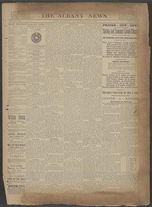 The Albany News. (Albany, Tex.), Vol. 6, No. 20, Ed. 1 Thursday, August 15, 1889