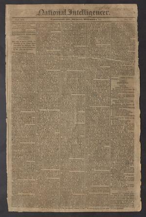Primary view of National Intelligencer. (Washington City [D.C.]), Vol. 14, No. 2061, Ed. 1 Thursday, December 9, 1813