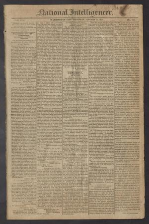 Primary view of object titled 'National Intelligencer. (Washington City [D.C.]), Vol. 13, No. 1925, Ed. 1 Thursday, January 21, 1813'.