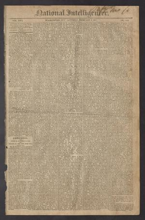 Primary view of object titled 'National Intelligencer. (Washington City [D.C.]), Vol. 13, No. 1932, Ed. 1 Saturday, February 6, 1813'.