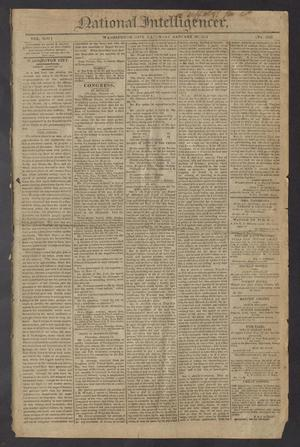 Primary view of National Intelligencer. (Washington City [D.C.]), Vol. 13, No. 1923, Ed. 1 Saturday, January 16, 1813