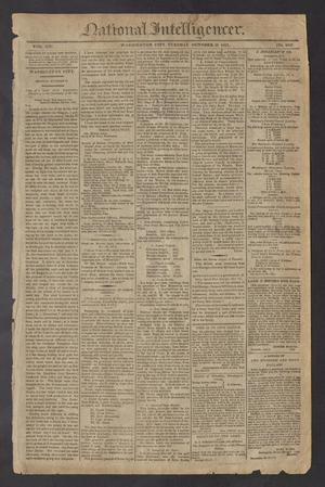 Primary view of National Intelligencer. (Washington City [D.C.]), Vol. 13, No. 2043, Ed. 1 Tuesday, October 26, 1813