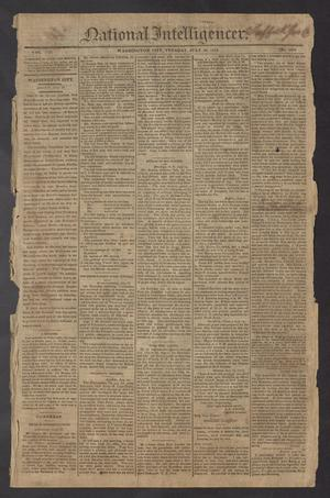 Primary view of National Intelligencer. (Washington City [D.C.]), Vol. 13, No. 2001, Ed. 1 Tuesday, July 20, 1813