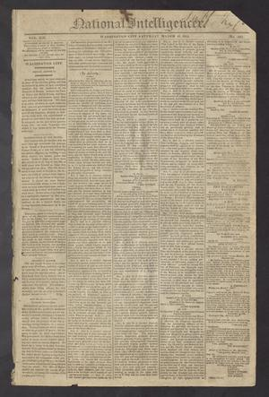 Primary view of object titled 'National Intelligencer. (Washington City [D.C.]), Vol. 13, No. 1948, Ed. 1 Saturday, March 13, 1813'.