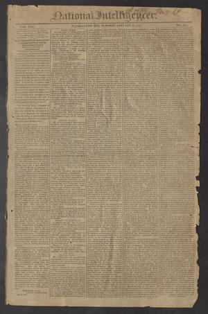 Primary view of object titled 'National Intelligencer. (Washington City [D.C.]), Vol. 13, No. 1921, Ed. 1 Tuesday, January 12, 1813'.