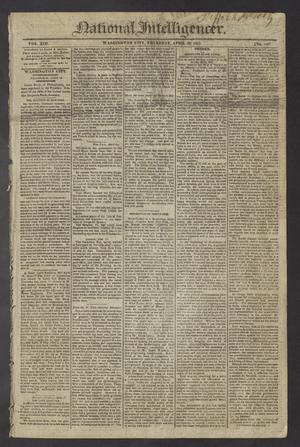 National Intelligencer. (Washington City [D.C.]), Vol. 13, No. 1967, Ed. 1 Thursday, April 29, 1813