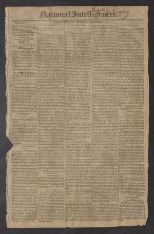 National Intelligencer. (Washington City [D.C.]), Vol. 13, No. 2020, Ed. 1 Thursday, September 2, 1813