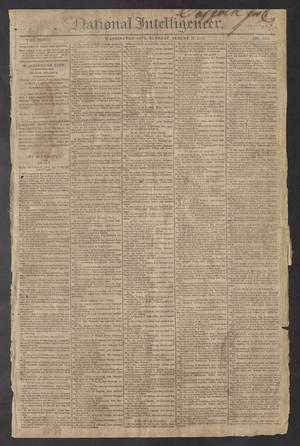 National Intelligencer. (Washington City [D.C.]), Vol. 13, No. 2013, Ed. 1 Tuesday, August 17, 1813