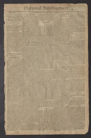 National Intelligencer. (Washington City [D.C.]), Vol. 13, No. 2014, Ed. 1 Thursday, August 19, 1813