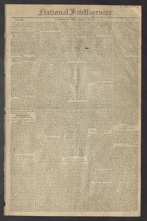 National Intelligencer. (Washington City [D.C.]), Vol. 13, No. 1949, Ed. 1 Tuesday, March 16, 1813