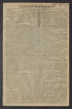 Primary view of National Intelligencer. (Washington City [D.C.]), Vol. 13, No. 1974, Ed. 1 Saturday, May 15, 1813