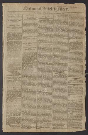 Primary view of object titled 'National Intelligencer. (Washington City [D.C.]), Vol. 13, No. [2040], Ed. 1 Tuesday, October 19, 1813'.