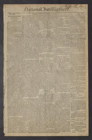 Primary view of National Intelligencer. (Washington City [D.C.]), Vol. 13, No. 2007, Ed. 1 Tuesday, August 3, 1813