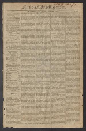 Primary view of object titled 'National Intelligencer. (Washington City [D.C.]), Vol. 13, No. 1931, Ed. 1 Thursday, February 4, 1813'.