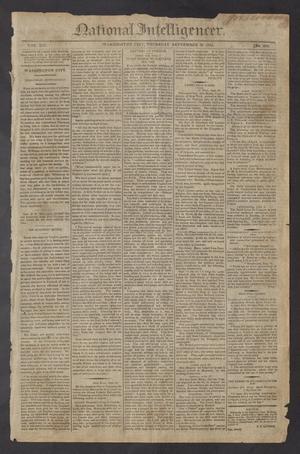 Primary view of National Intelligencer. (Washington City [D.C.]), Vol. 13, No. 2032, Ed. 1 Thursday, September 30, 1813
