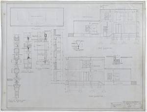 West Texas Utilities Warehouse, Abilene, Texas: East & West Elevation with Roof Plan, A Two Story Fireproof Warehouse for West Texas Utilities Co., Abilene, Texas: Sheet 6, West Texas Utilities Warehouse, Abilene, Texas, Commercial Buildings