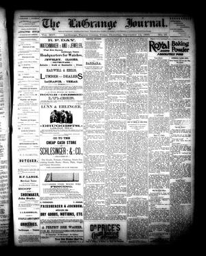 Primary view of object titled 'The La Grange Journal. (La Grange, Tex.), Vol. 14, No. 37, Ed. 1 Thursday, September 14, 1893'.
