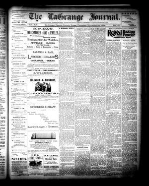 Primary view of The La Grange Journal. (La Grange, Tex.), Vol. 15, No. 47, Ed. 1 Thursday, November 22, 1894