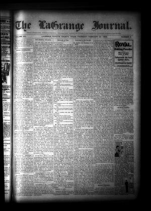 Primary view of object titled 'The La Grange Journal. (La Grange, Tex.), Vol. 21, No. 9, Ed. 1 Thursday, February 22, 1900'.