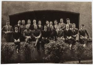 Primary view of object titled '[Fraternity Photo in Austin 1917]'.