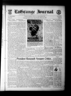 Primary view of La Grange Journal (La Grange, Tex.), Vol. 63, No. 9, Ed. 1 Thursday, February 26, 1942