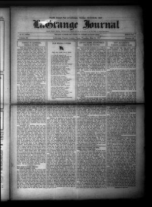 Primary view of object titled 'La Grange Journal (La Grange, Tex.), Vol. 48, No. 20, Ed. 1 Thursday, May 19, 1927'.