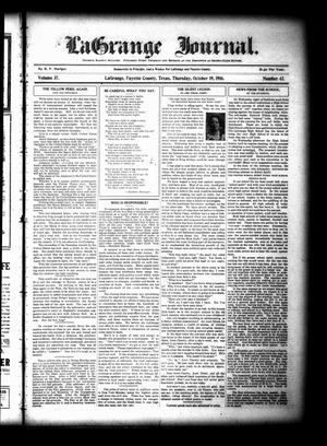 Primary view of object titled 'La Grange Journal. (La Grange, Tex.), Vol. 37, No. 42, Ed. 1 Thursday, October 19, 1916'.