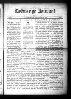 Primary view of La Grange Journal (La Grange, Tex.), Vol. 47, No. 9, Ed. 1 Thursday, March 4, 1926