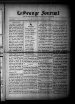 Primary view of La Grange Journal (La Grange, Tex.), Vol. 50, No. 22, Ed. 1 Thursday, May 30, 1929