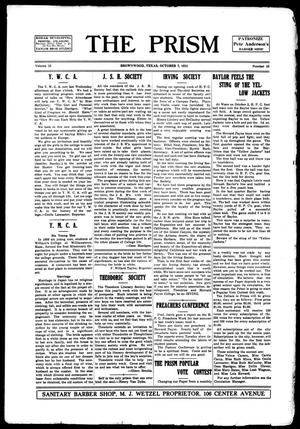 The Prism (Brownwood, Tex.), Vol. 15, No. 10, Ed. 1, Thursday, October 7, 1915